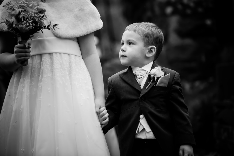 Children Holding Hands at Wedding by North Wales Wedding Photographer Celynnen Photography
