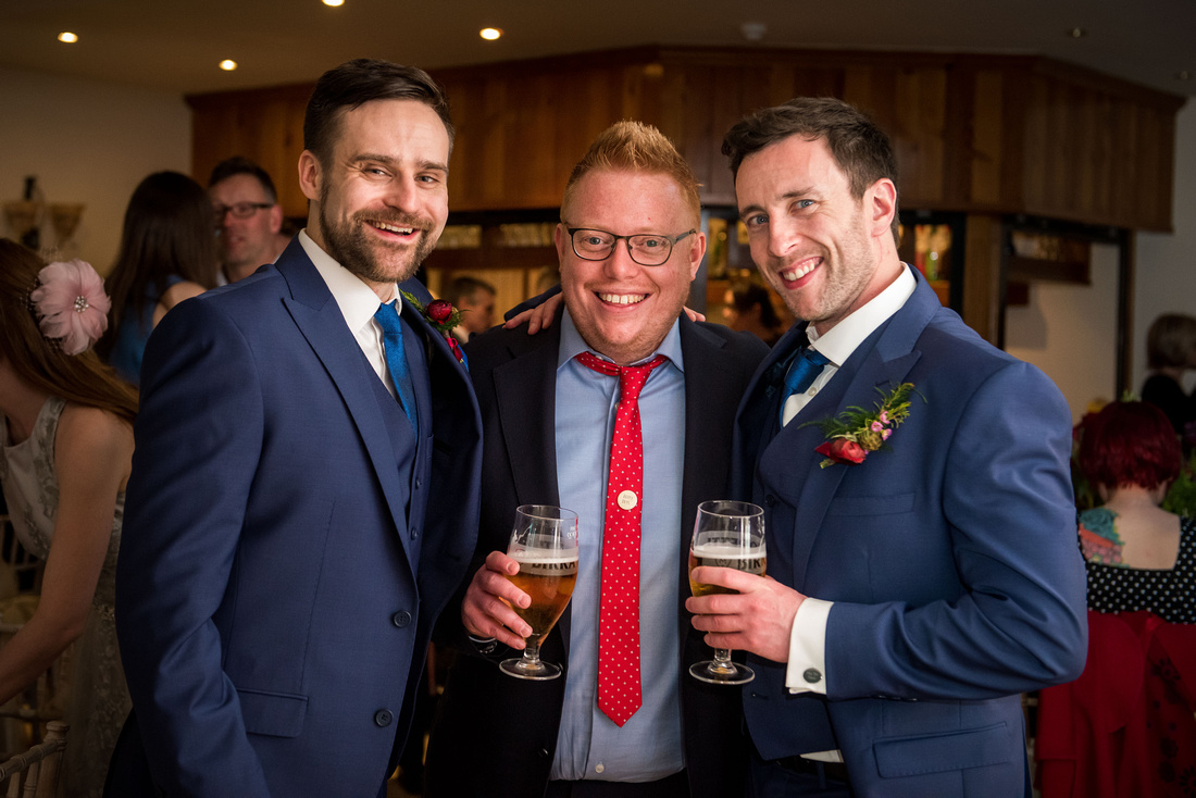 A happy portrait from a wedding at Beeston Manor in Lancashire.