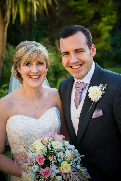 Sophie with her loved one during their wedding at St-Georges Hotel Llandudno