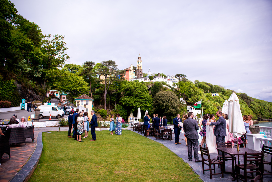 Wedding photographer in Celynnen Photography's feature on Portmeirion, one of the best wedding venues in Wales