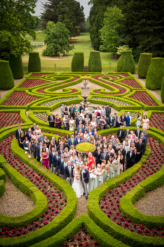 Group photo in the grounds of Bodrhyddan Hall.