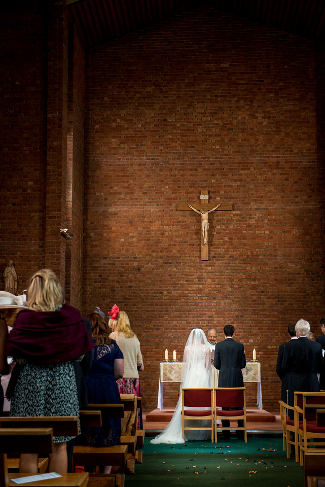 during the church ceremony