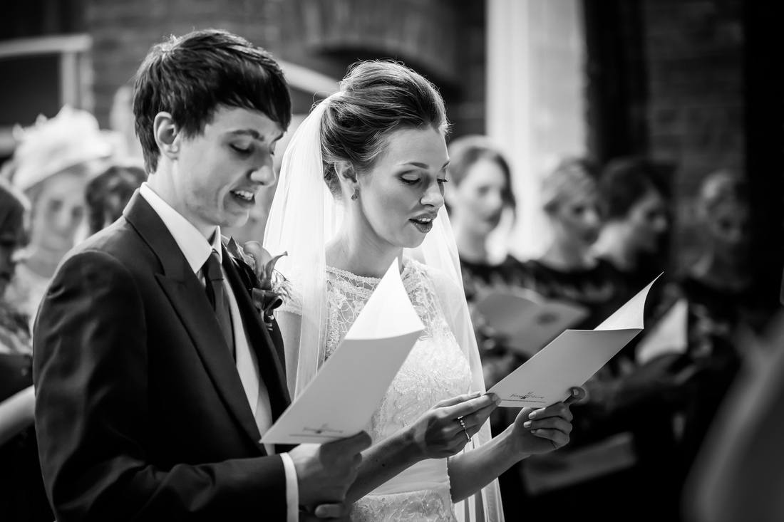 Tim and Roisin during the church ceremony