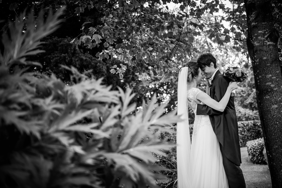 amazing bride and groom photo with a natural twist
