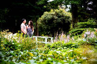 Spencer and Laura's Pre wedding photoshoot at Bodrhyddan Hall, with Celynnen Photography