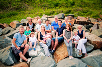 Family portrait of a large family in North Wales by Celynnen Photography