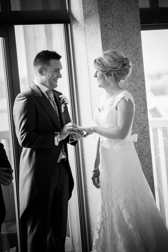 wedding ceremony at the Deganwy Quay. Wedding Photographer: Celynnen Photography