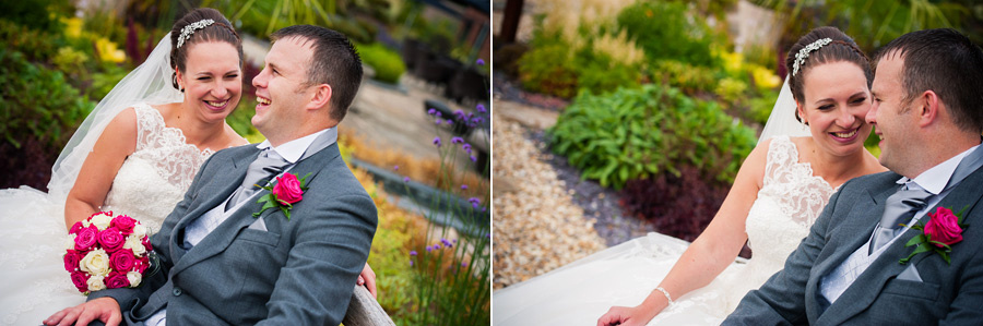 A Couple enjoying themselves at their wedding at Grosvenor Pulford