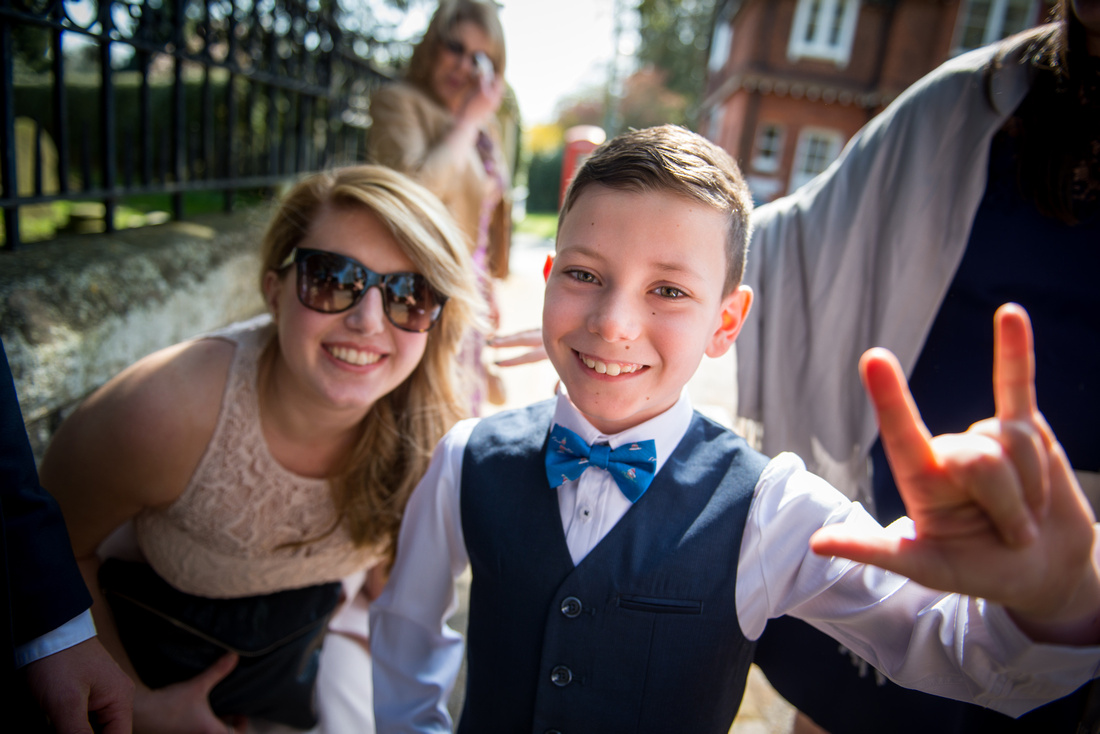 Image of guests at a wedding in Buckinghamshire.