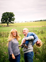 A fun family portrait from a family photoshoot in Denbigh