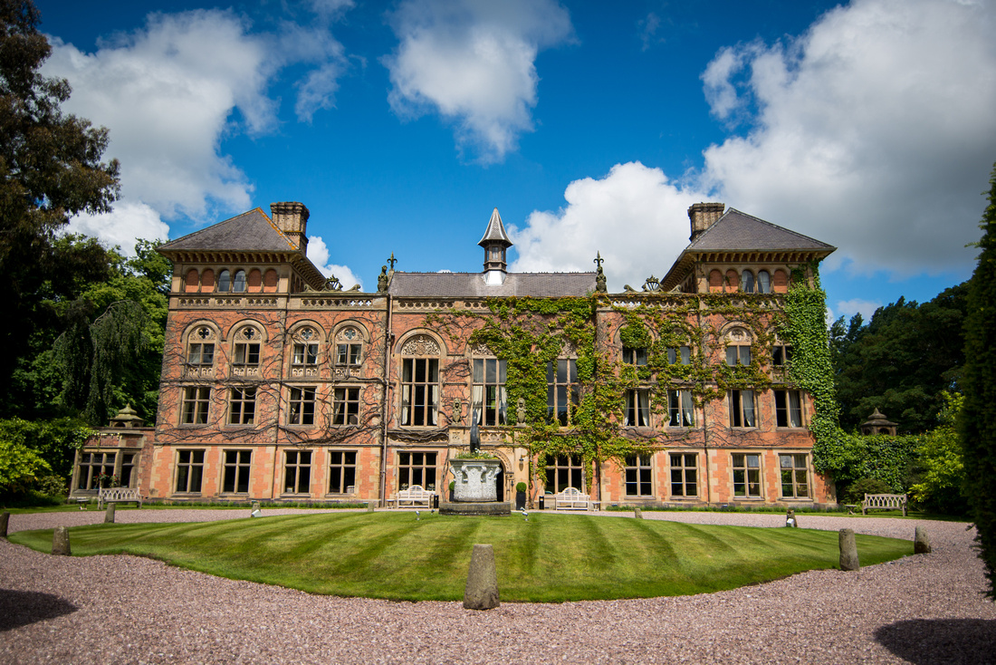 Image from a wedding at Soughton Hall.