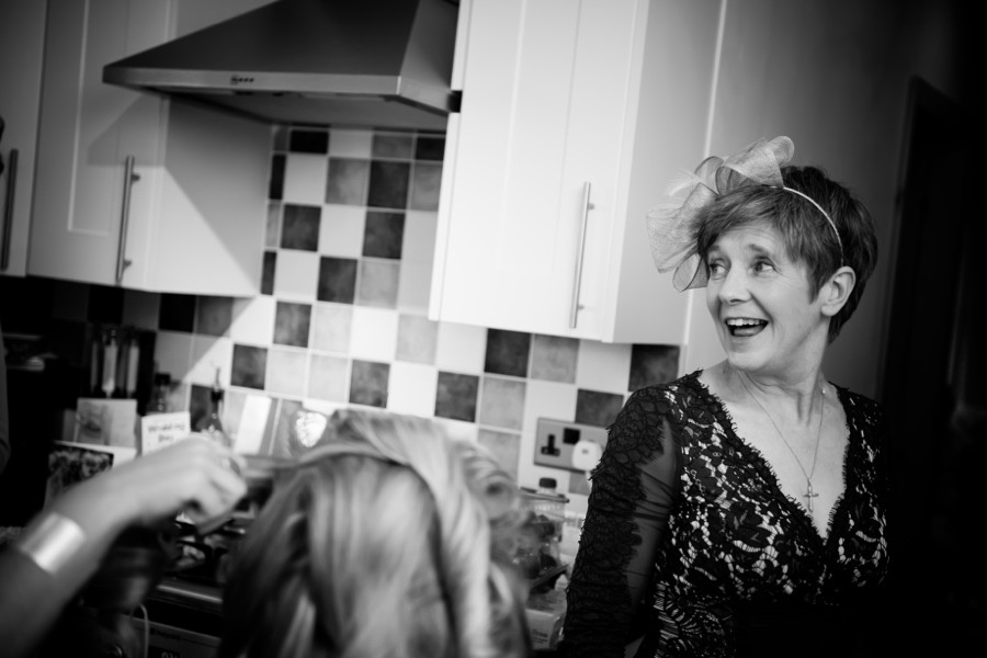 Mother of Bride During Preparations by North Wales Photographer Celynnen Photography