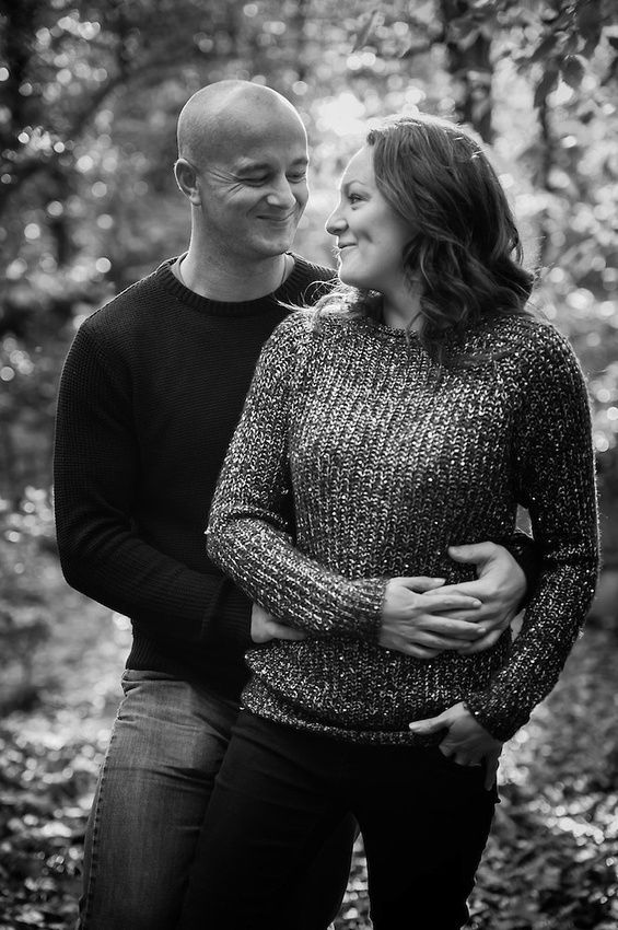Gillian and Luke who are getting married at the St-Georges Hotel in Llandudno made the most of the late Autumns sunshine in Deganwy for their portrait session! (Ioan Said / Celynnen Photography)