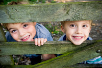Portrait of two young boys from a photoshoot at Wirral Country Park