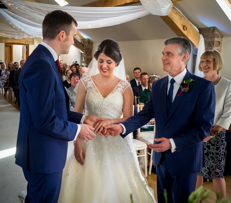 Photograph of the start of a wedding ceremony at Beeston Manor.