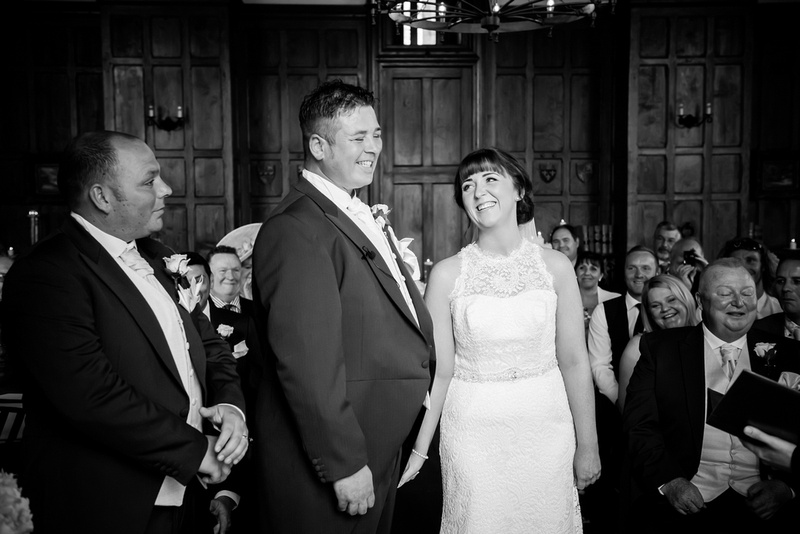 Bride and groom enjoying their wedding in Chateaux Rhianfa, Anglesey. Wedding Photographer, Celynnen Photography