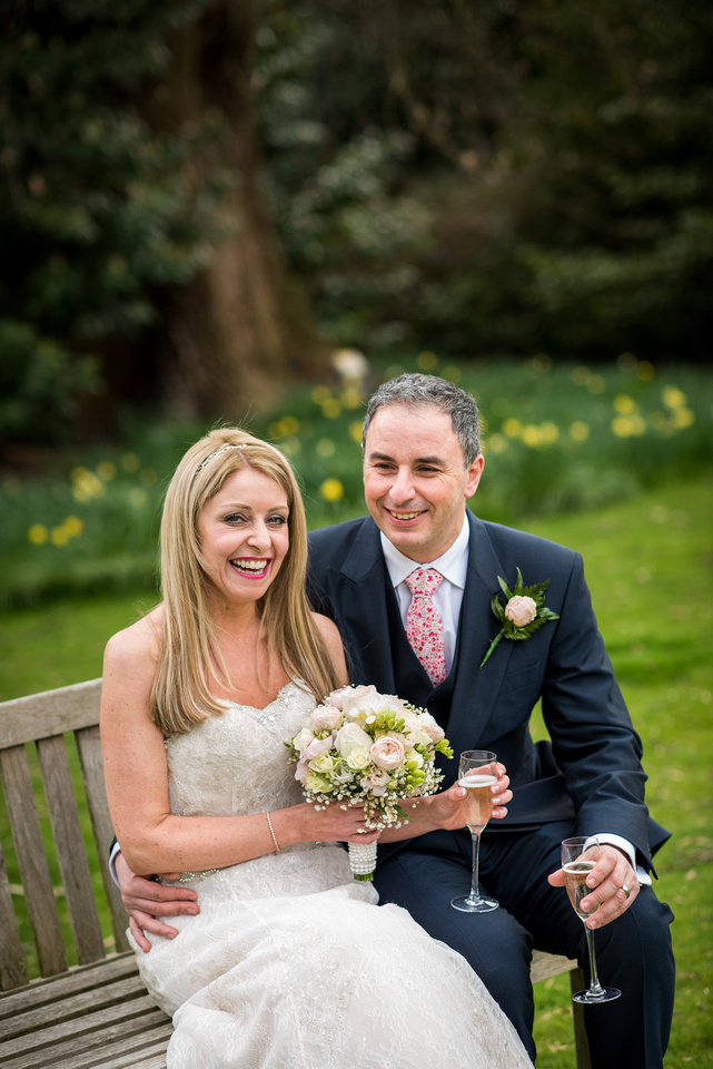 Portrait of the bride and groom at The Taplow House, Buckinghamshire.
