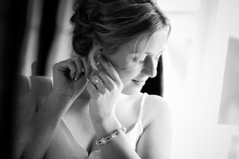 Bride getting ready. Wedding at Chateaux Rhianfa, Anglesey. Wedding Photographer, Celynnen Photography