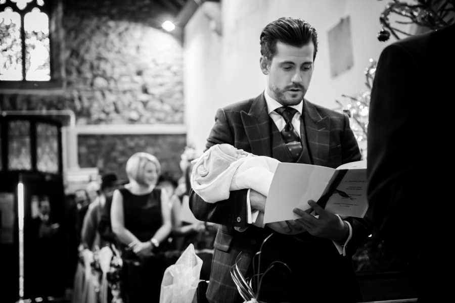 Wedding Guest with Baby by Photographer Celynnen Photography