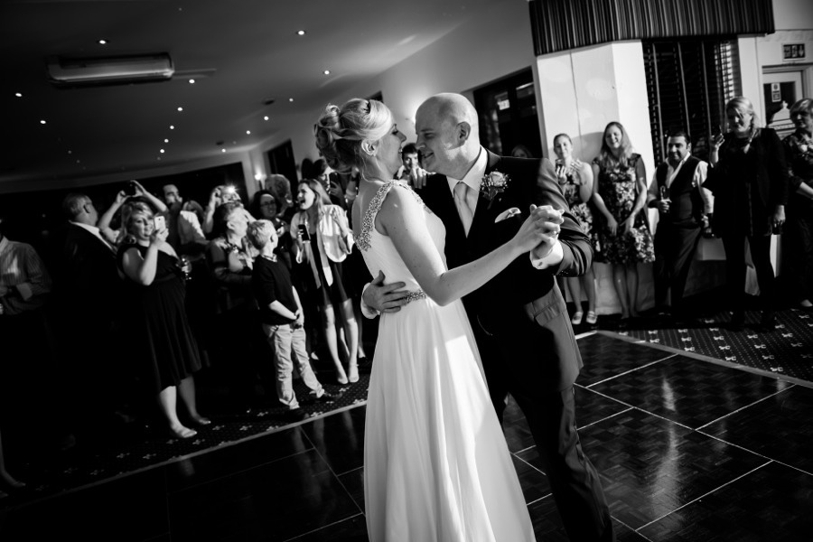 Bride and Groom dancing by North Wales Wedding Photographer Celynnen Photography