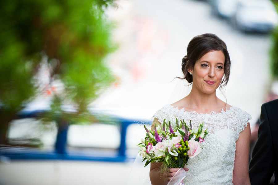 Portrait of a Smiling Bride on her Wedding Day by North Wales Wedding Photographer Celynnen Photography