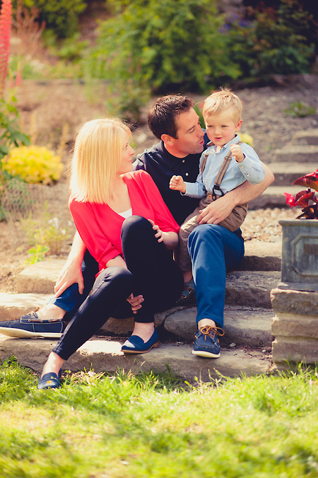 Colourful family portrait at a pre-Wedding portrait session by North Wales portrait and wedding photographer Celynnen Photography at the beautiful Crogen Estate (Ioan Said / Celynnen Photography)