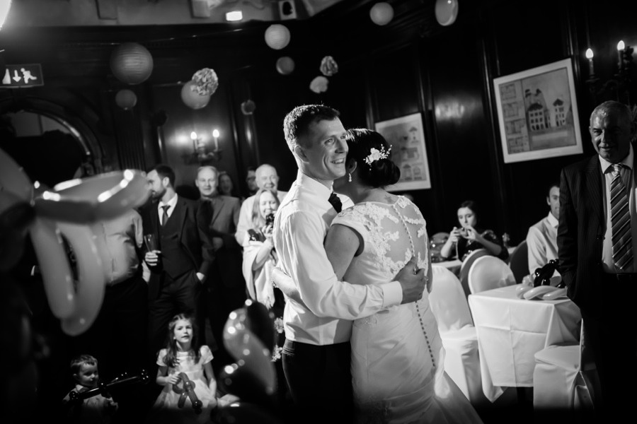 Bride and Groom dancing at their Wedding by Photographer Celynnen Photography