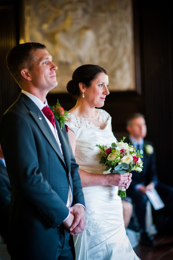 Bride and Groom Getting Married by North Wales Photographer Celynnen Photgraphy