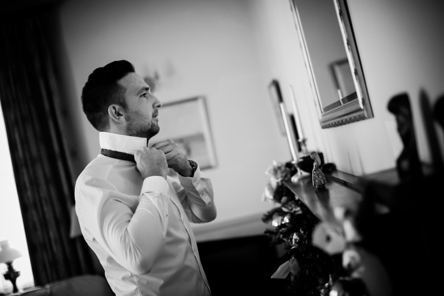 Wedding Guest Preparing at Ruthin Castle by Photographer Celynnen Photography