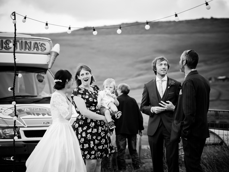 Black and white image from a wedding in North Wales.