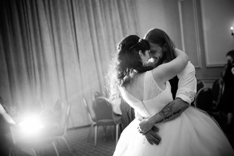 First dance at a beautiful wedding at the empire hotel, llandudno by North Wales wedding photographer, Celynnen Photography