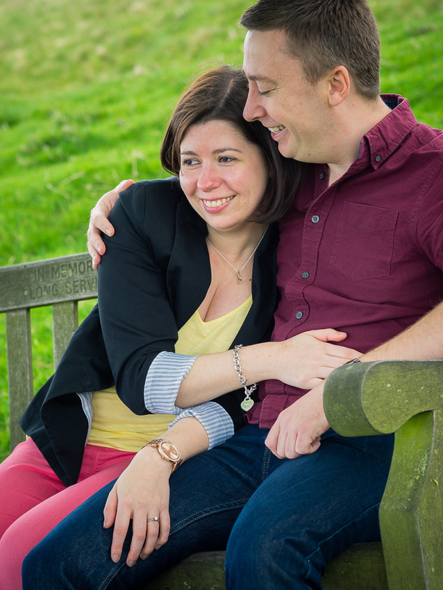 Picture of Katharine & Matt looking happy & relaxed during Pre Wedding Shoot at Lyme Park, photographed by Celynnen Photography.