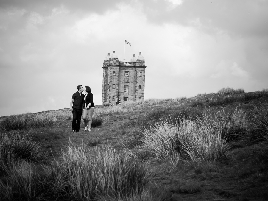 Katharine & Matt pre wedding shoot, Lyme Park, photographed by Celynnen Photography.
