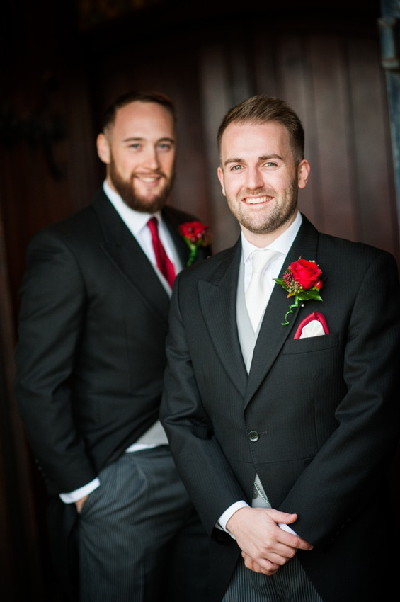 Groom and Best Man by Photographer Celynnen Photography