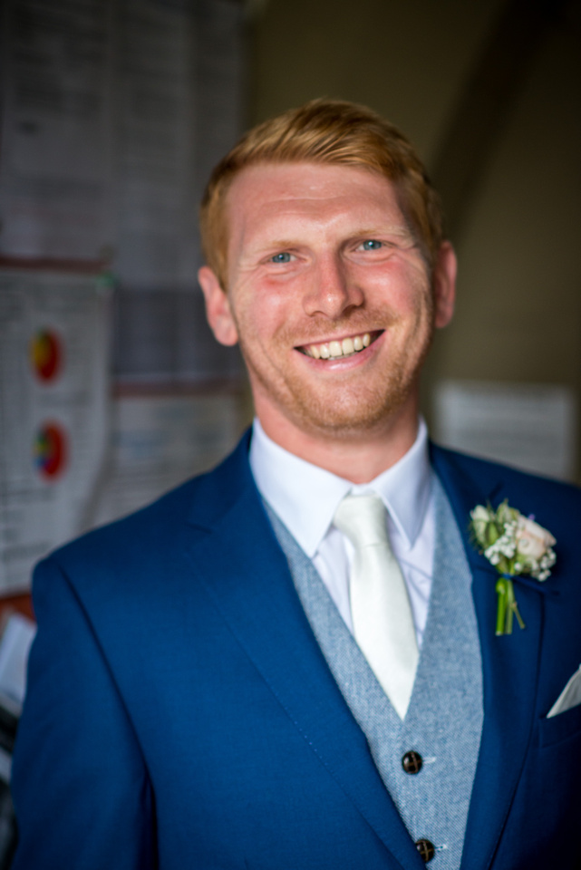 Portrait of the groom before the wedding ceremony.