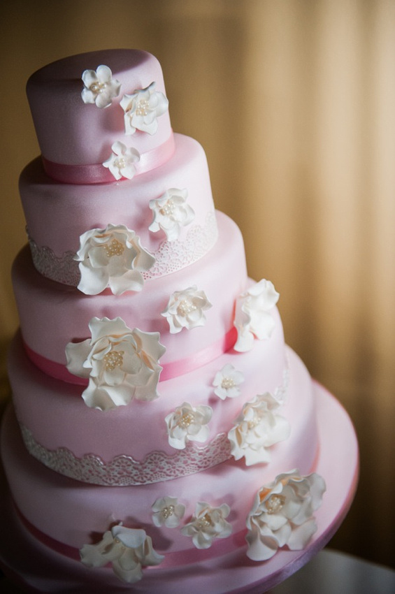 Wedding cake by Cakes for all occasion. Image by Celynnen Photography