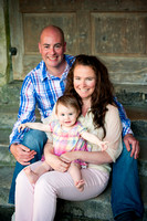 Family portrait from a pre wedding photoshoot in Well, Somerset