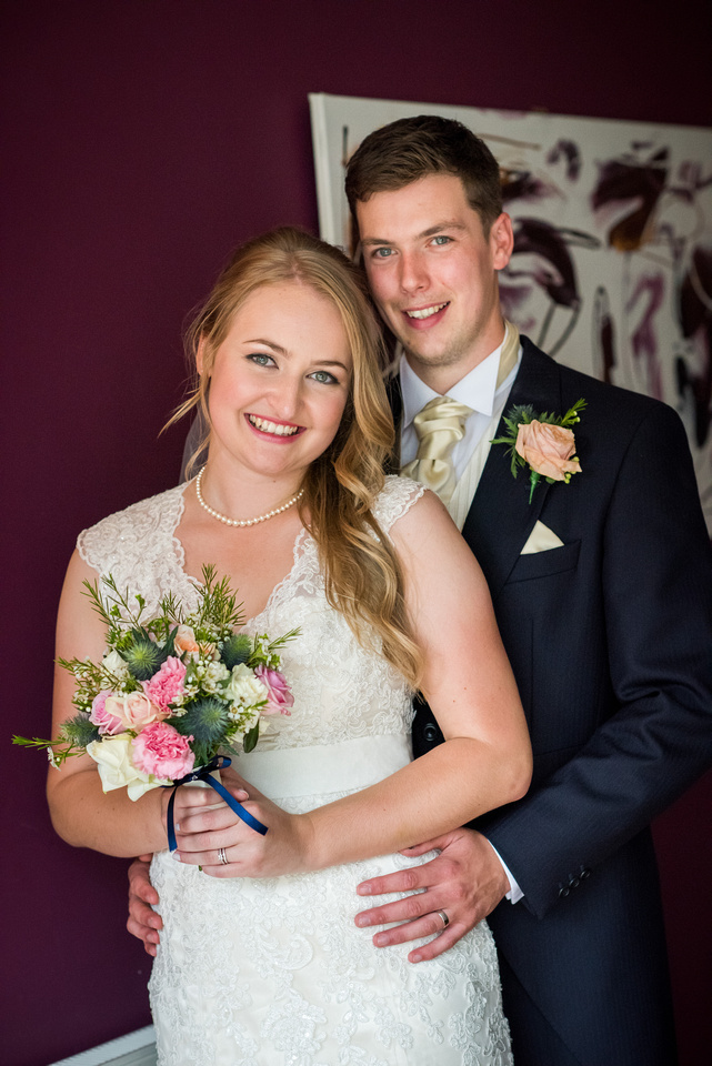 Couple Portrait of bride and groom from wedding at The Kinmel.