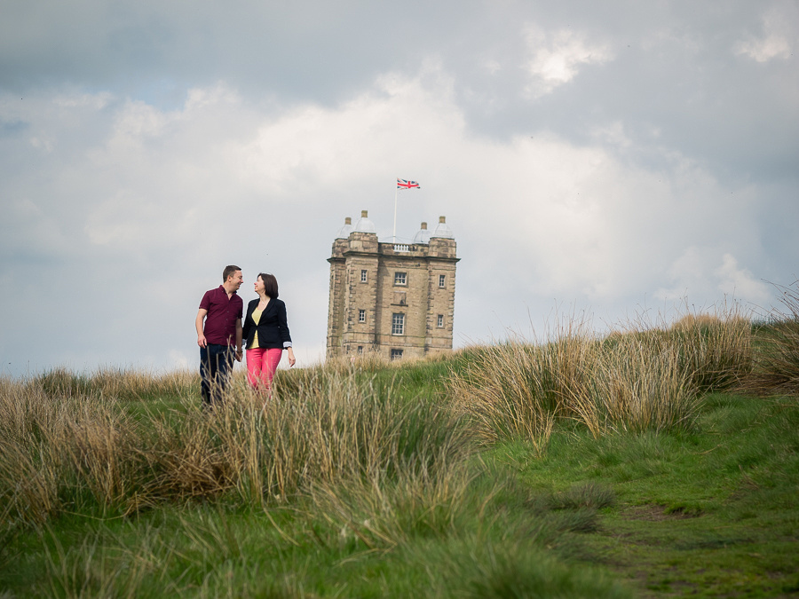 A photograph of Katharine & Matt at Lyme Park on their Pre Wedding Shoot, photographed by Celynnen Photography.