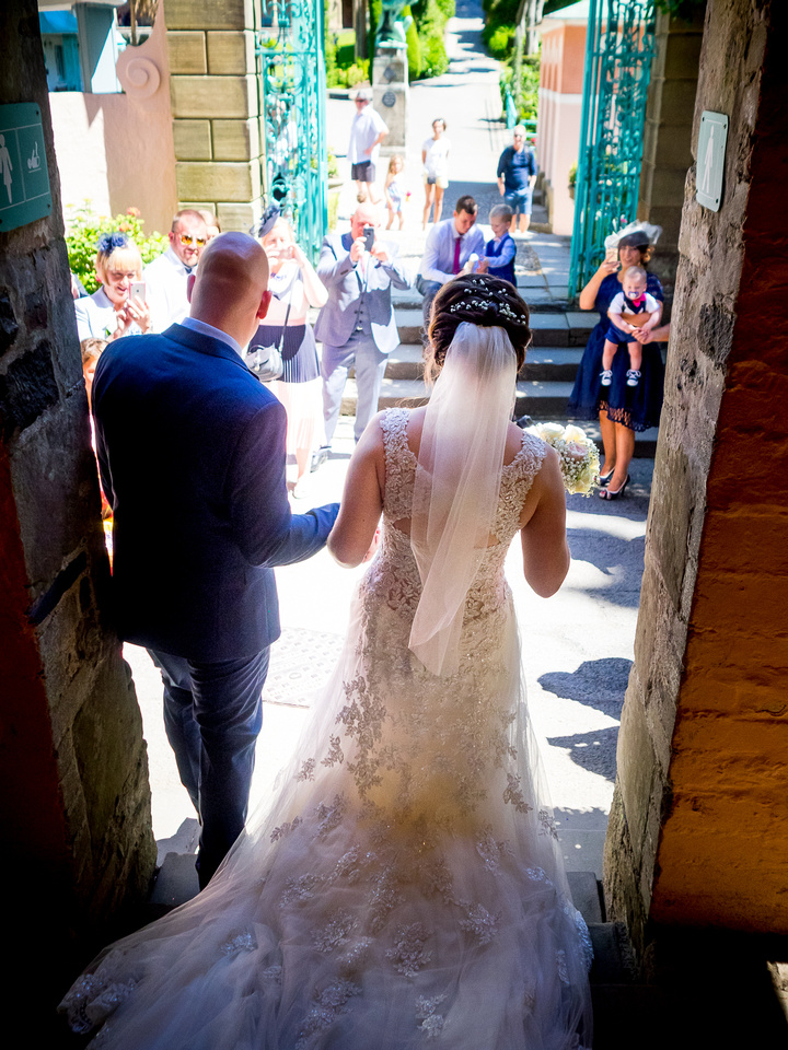 April and Adam's Wedding at Portmeirion with Celynnen Photography.