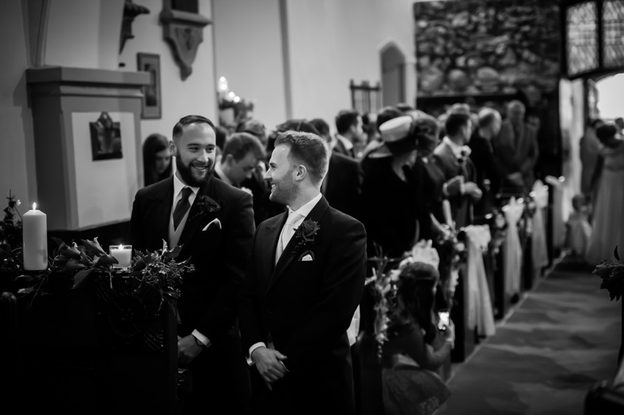 Groom waiting for Bride at Altar by Photographer Celynnen Photography